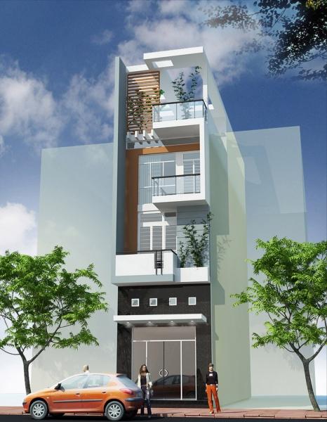 xay nha trọn goi - thiết kế nhà phố 4 tầng đẹp