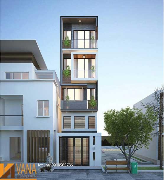 Thiết kế nhà cho thuê 5 tầng 4x17